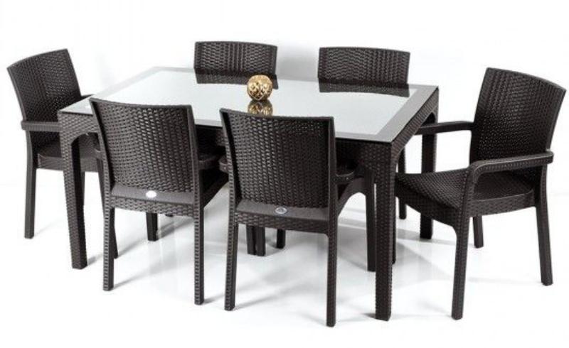 Set mobilier gradina:terasa, Holiday, masa cu 6 scaune