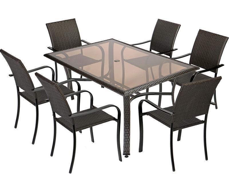 Set mobilier gradina:terasa Kring Amalfi, masa, 6 scaune