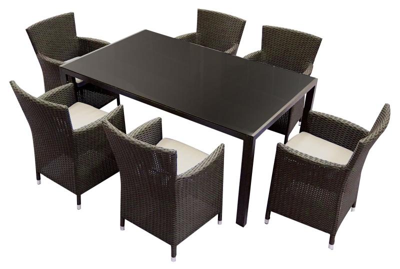 Set masa pentru gradina ISP cu 6 scaune din metal